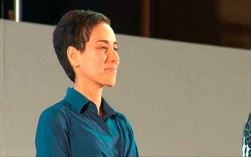 Maryam Mirzakhani. Fuente: The Star Online YouTube