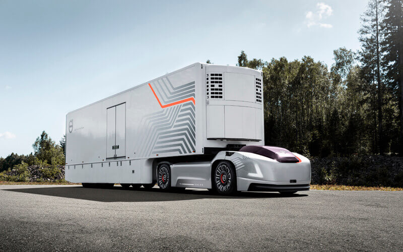 Volvo Trucks is developing a new type of transport solution for repetitive transports involving high precision between fixed hubs, as a complement to today?s solution. Image: Volvo Trucks