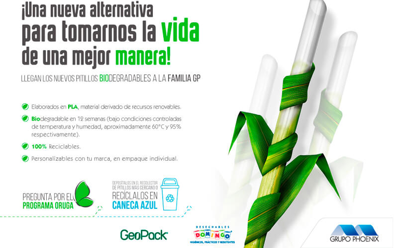 Grupo Phoenix launches new straw with bio-based material Image: Grupo Phoenix